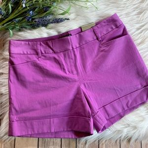NWT Express | Editor Shorts in Lilac Purple